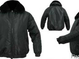 Куртка Титан черная с накладками для охранных структур