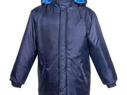 Куртка утепленная, рабочая плащевая ткань, цвет синий