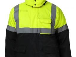 Куртка утепленная, черно-лимонная