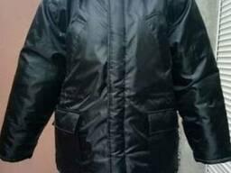 """Куртка утепленная черного цвета """"Аляска"""""""
