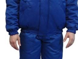 Куртка утепленная флис, цвет василек