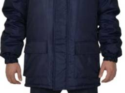Куртка утепленная флис, с отстёгивающимся капюшоном, цвет т. синий