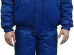 Куртка утепленная 'Иней' флис, цвет василек