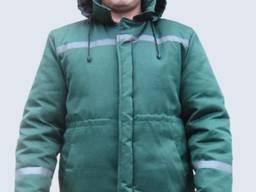 Куртка утепленная на синтепоне зеленая