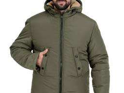 Куртка утепленная прямого кроя на молнии Олива