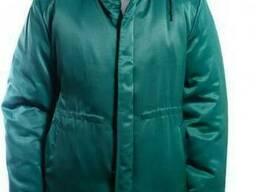 Куртка утепленная рабочая Контакт зеленая