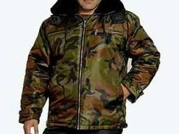 Куртка утепленная с меховым воротником