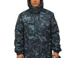Куртка утепленная с отстёгивающимся капюшоном, камуфляж