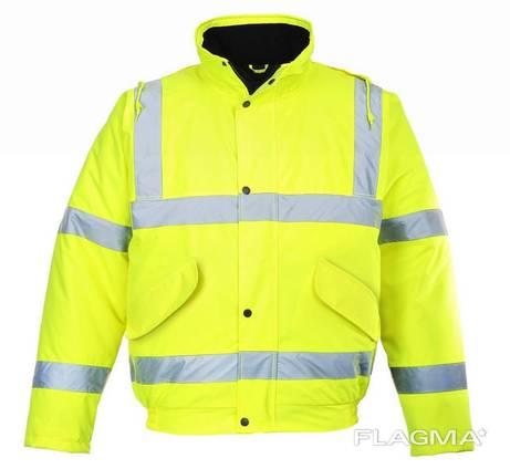 Куртка утепленная сигнальная Пилот
