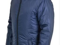 Куртка утепленная синяя с капюшоном