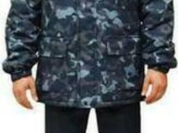 Куртка утепленная 'Вахта' на флисе, камуфляж Город