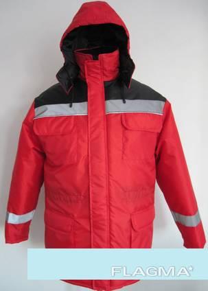 Куртка утеплённая ярко-красного цвета