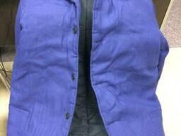 Куртка ватная Диагональ 100%хб синяя