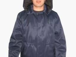 Куртка ватная Оптима, фуфайка с капюшоном
