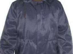 Куртка ватная с капюшоном, фуфайка, теплая спецодежда