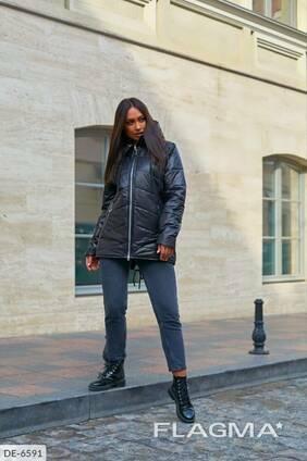 Куртка женская больших размеров черная SKL11-261239