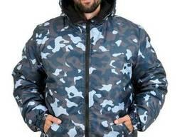 Куртка зимняя камуфляж TOWN Оксфорд плащевка размер 52-54, рост 170-176 BLUE