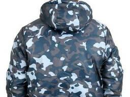 Куртка зимняя камуфляж TOWN Оксфорд плащевка размер 60-62, рост 182-188 BLUE