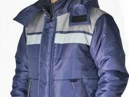 """Куртка зимняя """"Эребус"""" цвет: т. синий/серый"""