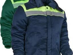 Спецодежда, куртка утепленная мужская, зеленого цвета