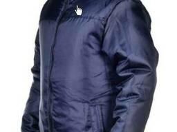 Куртка зимняя, утепленная, мужская синяя