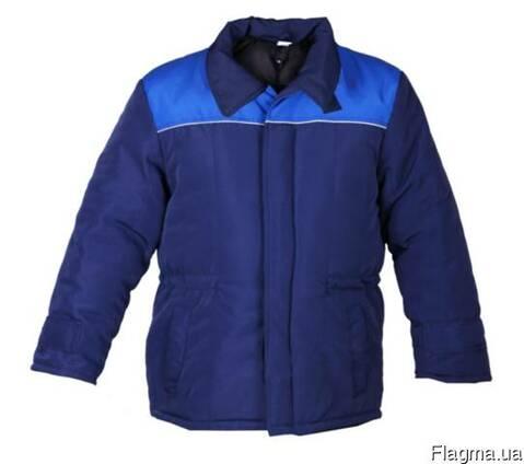 Куртка зимняя, утепленная, рабочая, мужская, женская, грета. сарж