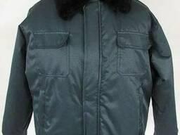 Куртка зимняя, утепленная, с меховым воротом, пошив заказ