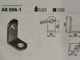 Кутик меблевий одинарний металевий