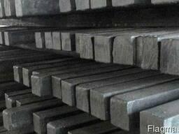 Квадрат металлический по стали 45, стальной на складе