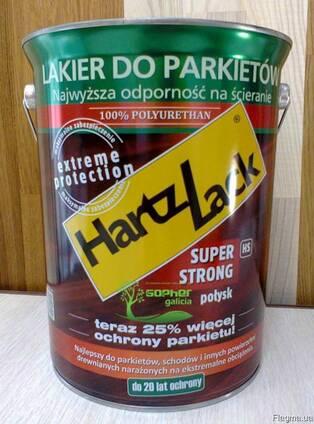 Лак паркетный HartzLack Super Strong 5л полиуретановый