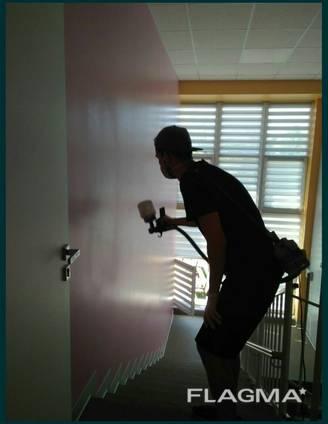 Лакировка стен, покраска стен , малярные работы, маляр