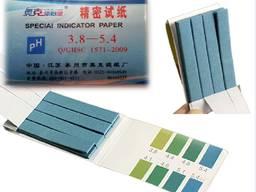 Лакмусовая индикаторная бумага 3.8-5.4 РН тест 80 полосок ph рн тест метр