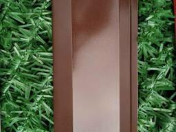 Ламели для забора Жалюзи металлический 112мм цвет 8017 коричневый глянец двухсторонний. ..