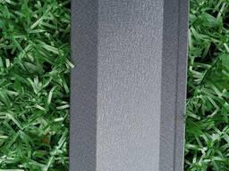 Ламели для забора Жалюзи 112мм цвет 7024 графитовый матовый двухсторонний 0, 5 Корея