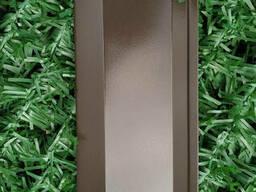 Ламели для забора Жалюзи металлический 112мм цвет 8019 коричневый глянец двухсторонний. ..