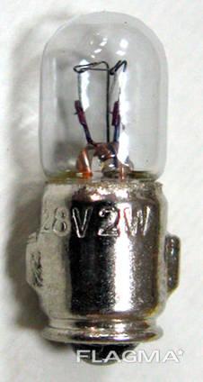 Лампа накаливания самолетная СМ-28-2-1 Ba7s