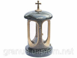 Лампада (подсвечник) гранитная черная для надгробных. ..