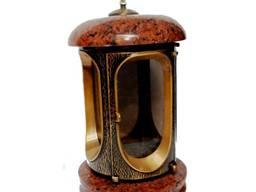 Лампада (подсвечник) гранитная для надгробных памятников (кр