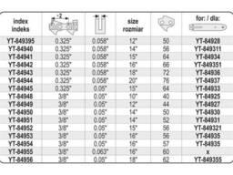"""Ланцюг YATO l= 18""""/ 45 см (62 ланки) для ланцюгових пил з направляючою шиною YT-849355"""