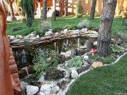 Ландшафтный дизайн, автоматический полив, озеленение