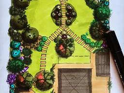 Ландшафтный Дизайн, Посадка деревьев, крупномеров, Посев