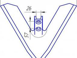 Лапа культиватора Horshg-FG, шир.370-450мм, лапа Хорш