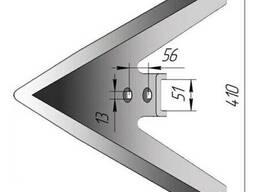 Лапа культиватора КПЭ стрельчатая, ширина 380-500мм. , от производителя!