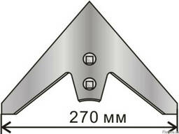 Лапа культиватора КПС 270 мм