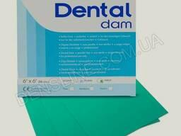 """Латексные платки для коффердама 6""""х6"""" 36шт/уп DentalDam..."""
