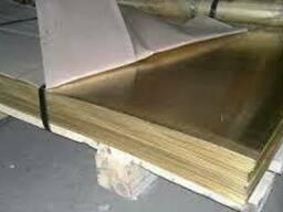 Латунный лист 5мм (600х1500) Л63, ЛС 59-1 мягкий. ..