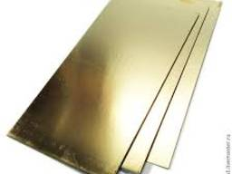 Латунный листовой прокат: Листы размером от 0.4х1500х600мм