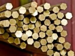 Латунный шестигранник Л63,ЛС59 ф27 ф29 ф28 ф32 х 2500ГОСТ