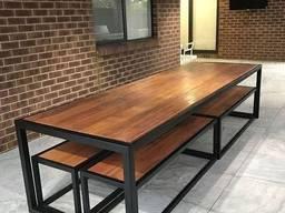 Комплект лофт для саду, стіл лофт, лавка лофт