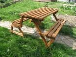 Деревянные столы стулья, скамейки - Дачная мебель, беседки. - фото 5